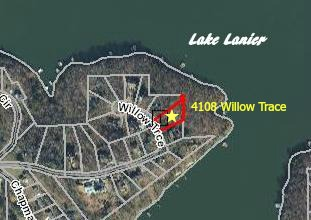 Lake Lanier, GA Lot for sale with dock permit, waterfront