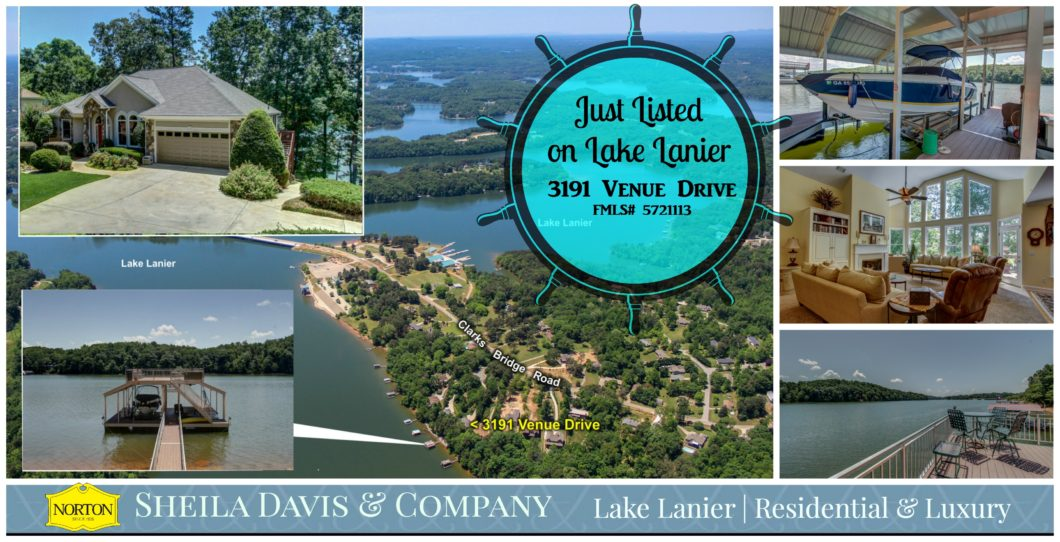 Lake Lanier Home for sale 3191 Venue Drive www.lakelaniersfinest.com