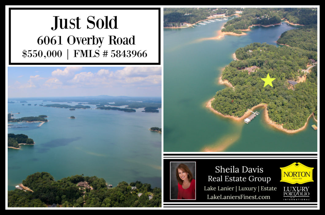 Just Sold 6061 Overby Road, Sheila Davis Lake Lanier homes & Lots for sale