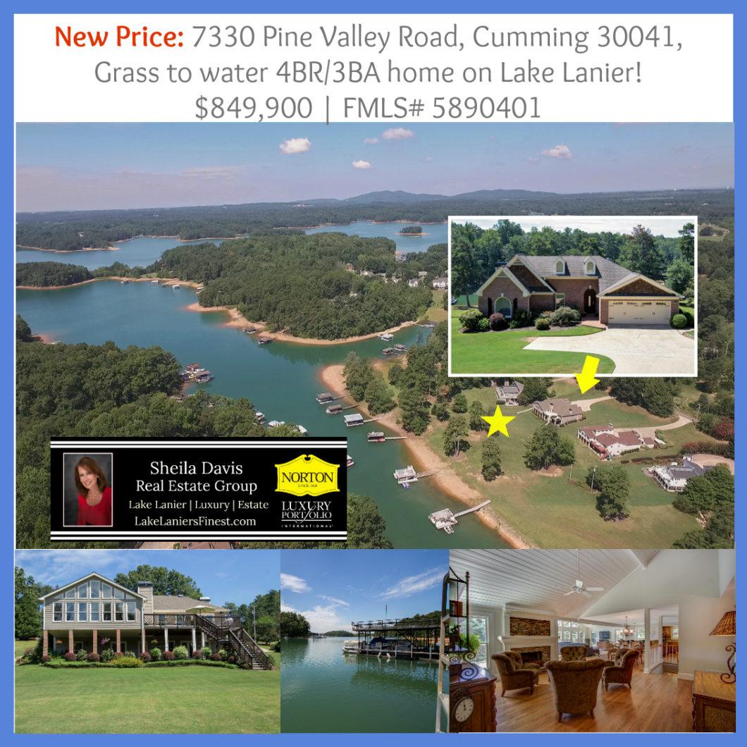 cumming lake lanier home for sale,7330 Pine Valley Rd Price Reduction, Home for sale on Lake Lanier, Cumming, GA