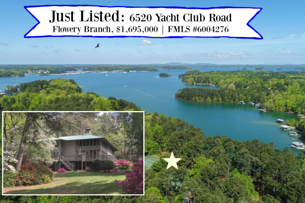 Just Listed on lake lanier 6520 Yacht Club Road