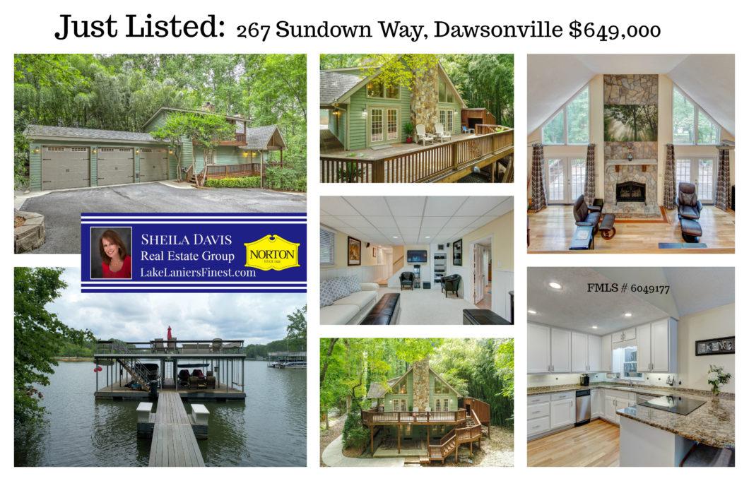 Home for sale on Lake Lanier Dawsonville Georgia GA