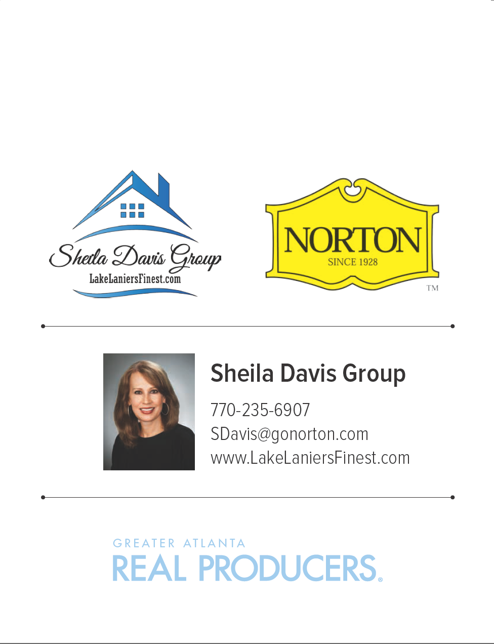 Top Lake Lanier Real Estate Agent, Sheila Davis, The Norton Agency, Lake Lanier Homes for Sale