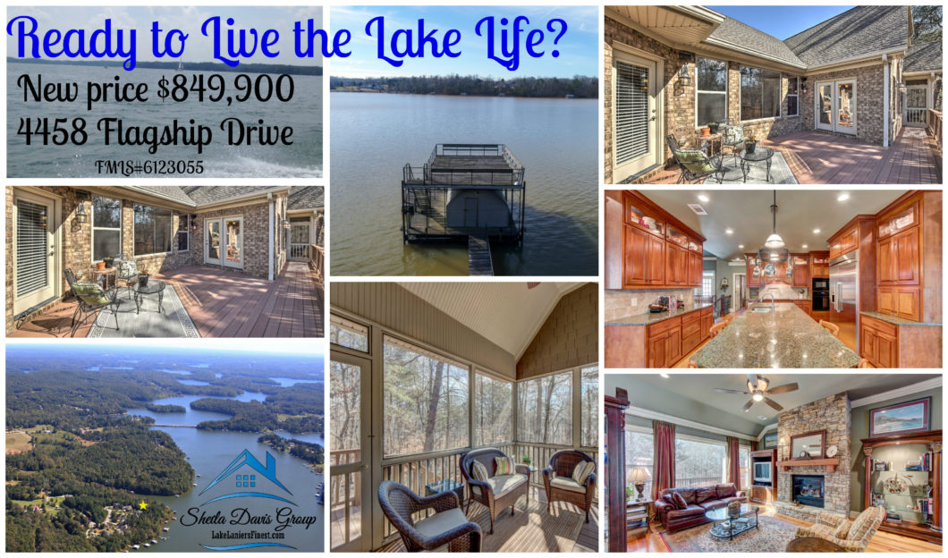 Lake Lanier home for sale, new Price, Sheila Davis Real Estate Group, The Norton Agency