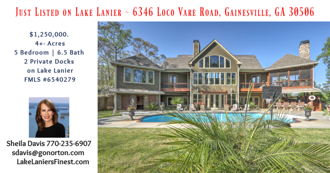 Lake Lanier home for sale Luxury Sheila Davis Group 770-235-6907