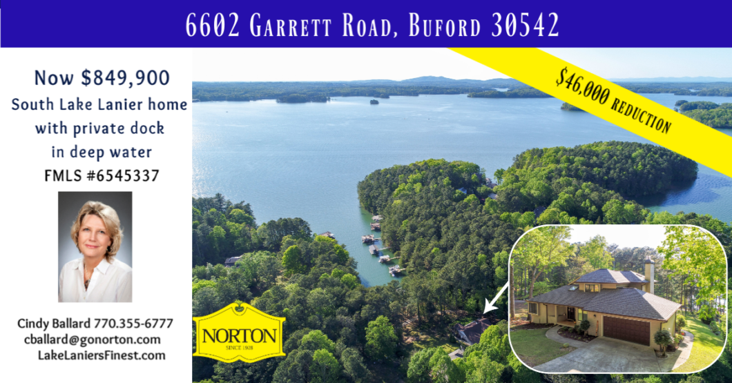 Lake Lanier home for sale buford, GA waterfront