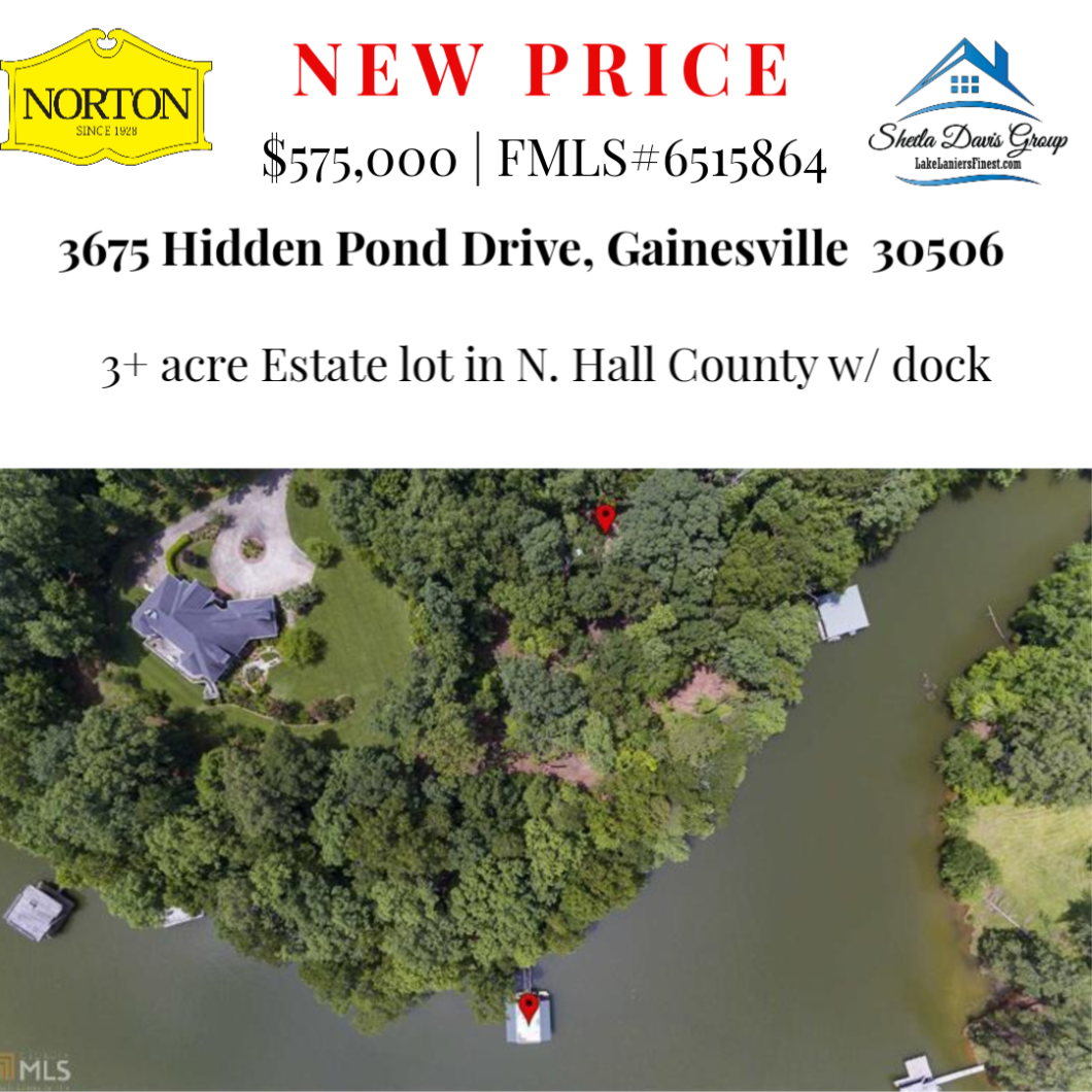 Lake Lanier lot for sale with dock