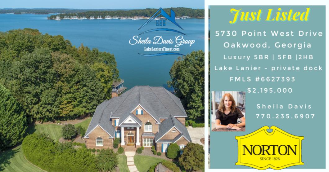 Luxury homes on Lake Lanier for sale Sheila Davis Real Estate Group