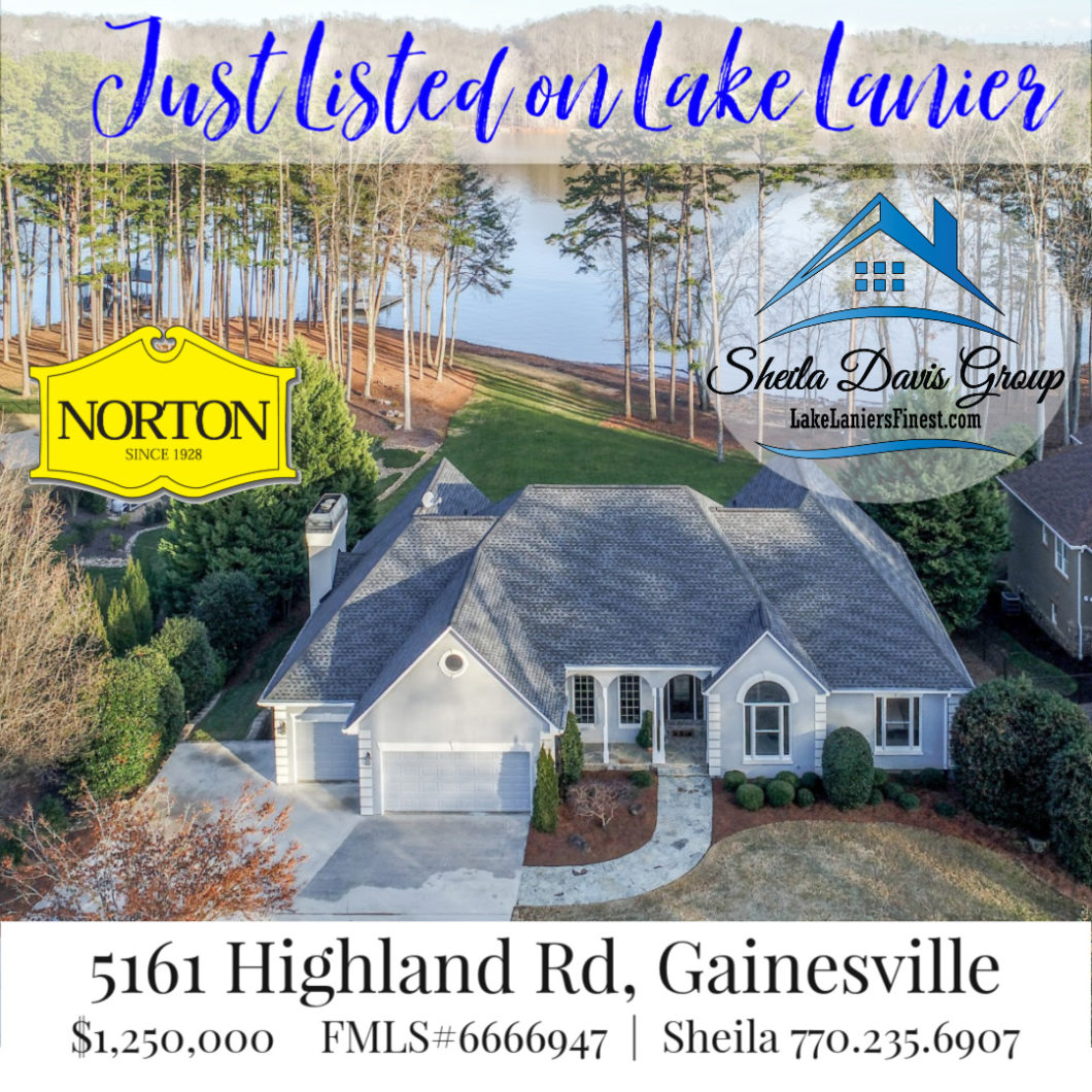 Lake Lanier home for sale 5161 Highland Road Gainesville GA