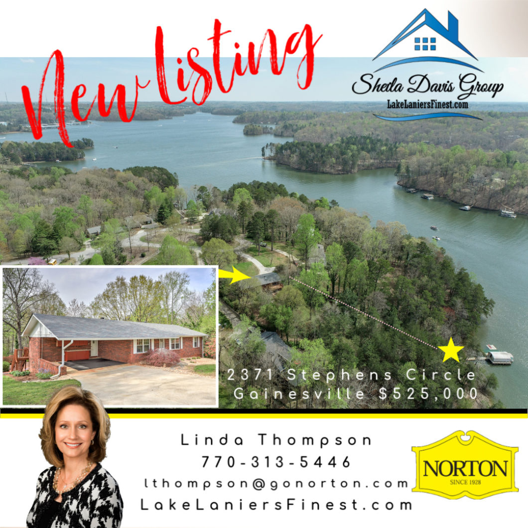 Just Listed on Lake Lanier 2371 Stephens Circle