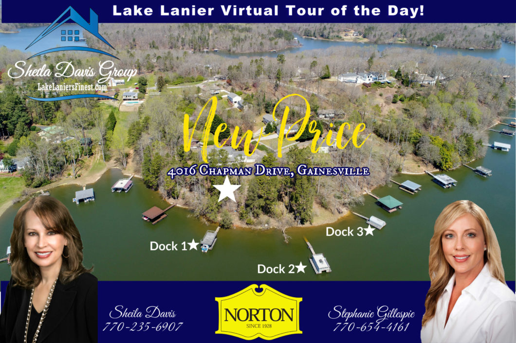 Lake Lanier Estate 4016 Chapman Drive New Price