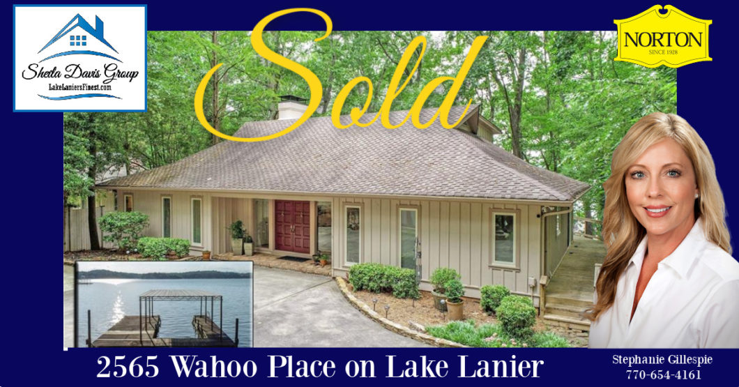 Lake Lanier home sold by Stephanie Gillespie, Sheila Davis Group