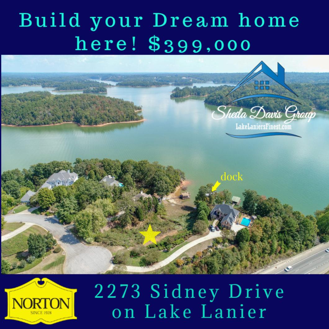 Lake Lanier lot for sale 2273 Sidney