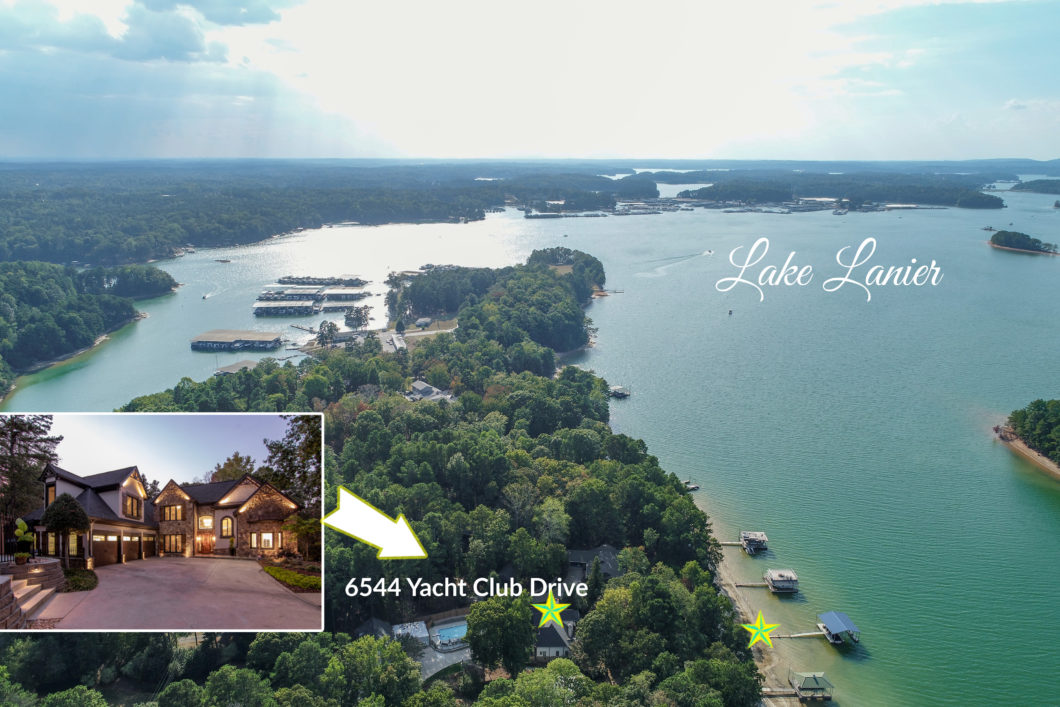 Luxury Estate waterfront on a prime location of Georgia's Lake Lanier!6544 yacht Club dr