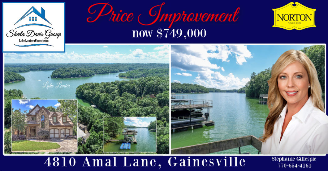 Lake lanier home for sale dock Sheila Davis Group