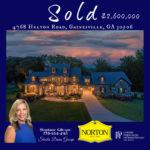 Gainesville Luxury Estate home sold Stephanie Gillespie The Norton Agency
