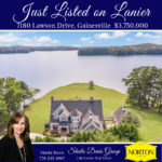 Lake Lanier Luxury home on a waterfront point lot for sale